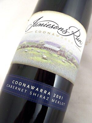 2001 JAMIESONS RUN Cabernet Shiraz Merlot Isle of Wine