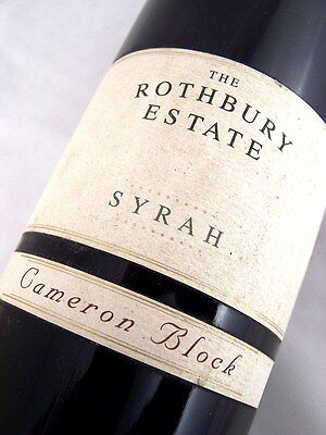 1991 ROTHBURY ESTATE Cameron Block Syrah Shiraz B Isle of Wine