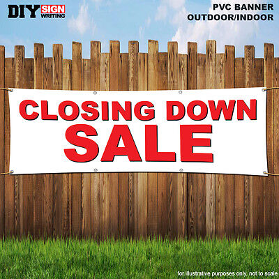 CLOSING DOWN SALE Shop Large Indoor and Outdoor PVC Banner Sign ID 1928