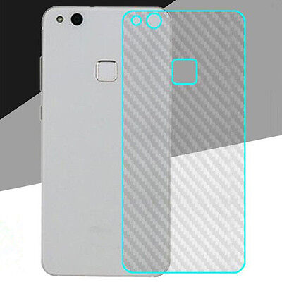 3D Clear Carbon Fiber Back Film Shield Screen Protector For Huawei P10 Lite Lot