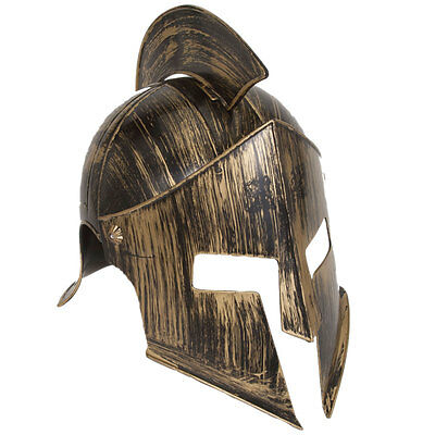 Medieval Gladiator Spartan Ancient Warrior Helmet with Face Plate and Crest