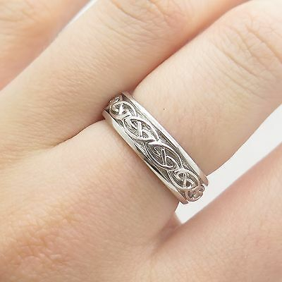 Shan Ore 925 Sterling Silver Celtic Band Ring Size 7 1/4