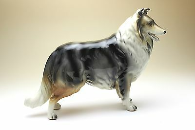 Blue Merle Rough Collie Porcelain Dog Figurine NEW Made in Japan