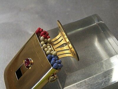 Museum quality 36Gr 18k SOLID GOLD Ruby vesta case custom-made Match safe Box