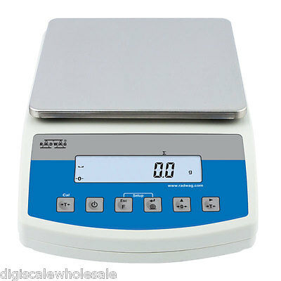 Counting Bench Scale 10kg x 0.1g Radwag WLC 10/A2 Precision Balance Peak Hold