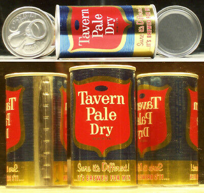 Tavern Pale Dry Beer 1965 Air Filled Can Atlantic Chicago 60601 Ill 512 Mint