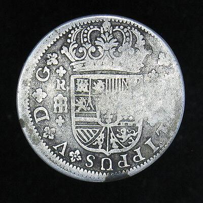 1716-1729 Spain 2 Reales silver coin