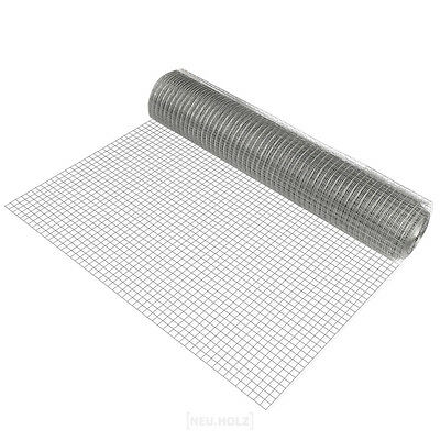 Wire mesh square galvanised 1mx25m Welded Wire Grid Aviary Mesh Wire Fence