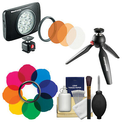Manfrotto Lumimuse 8 On-Camera LED Video Camcorder Light with Filter Kit
