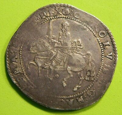 High Grade Charles 1St Exeter  Mint Silver  Crown , Rare Coin. 1643-1646