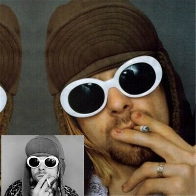Vintage NIRVANA Kurt Cobain Round Sunglasses For Women Men Mirrored Eyewear