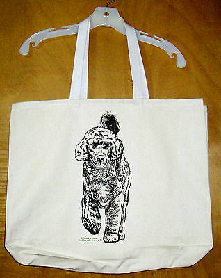 PORTUGUESE WATER DOG - Coming&Going XL 100% Cotton Canvas Tote Bag
