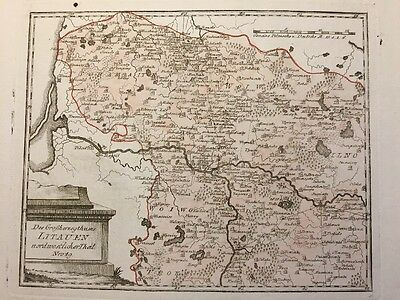 RARE 1790 Northwestern LITHUANIA colored MAP Prussia Baltic VON REILLY Litauen