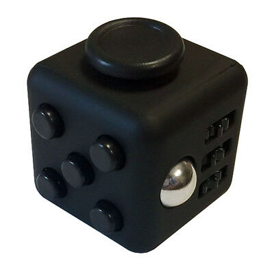 Fidget Cube Mini Hand Finger Puzzle Stress Relief Anti-Anxiety Toy All Black