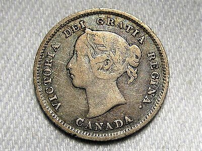 1884 Canada 5 Cent Silver Coin Key Date CH VG AC338
