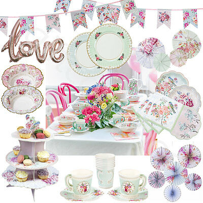 Talking Tables Truly Romantic Wedding Garden Tea Party Tableware & Decorations
