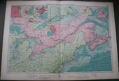 1829 USA North American Atlantic Ports New York Marine Trade Route Map
