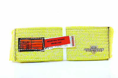 EE2-904 X3FT Nylon Lifting Sling Strap 4 Inch 2 Ply 3 Foot USA MADE Package of 4