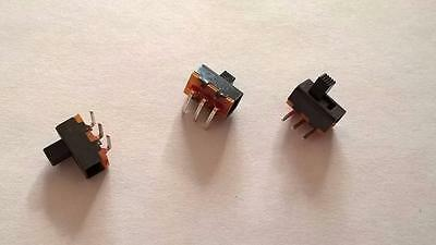 ZME122 Lot of 50pcs On / Off Slide Switch Black 3-Pin  R/A Through Hole Mount