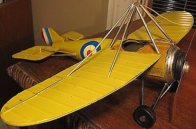 Vintage Style  Metal Fighter  Collector  Military Aircraft Decor  Model Airplane