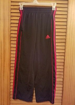 Adidas boys pants black with red stripe on sides size small (8)