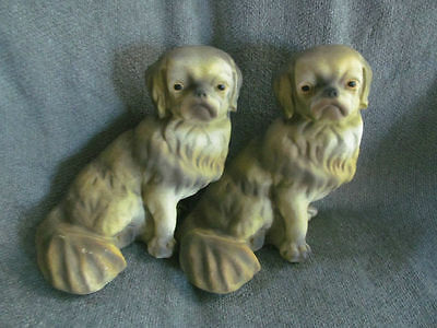 "New Pair of Large 10"" high  Pekingese Dog , Statue, Likeness, Adorable Face~"