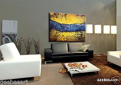 Huge Original Abstract Painting Office Modern Interior Decor Room Art Textured