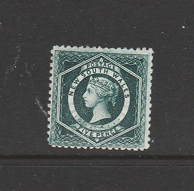 NEW SOUTH WALES 5d GREEN MINT SG215 SUPERB AND RARE