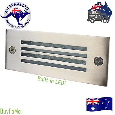 Outdoor Or Interior recessed wall/deck brick Stainless Steel LED Brick Light
