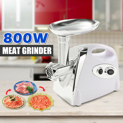 800W Electric Meat Grinder Stainless Steel Industrial Mincer Sausage Maker