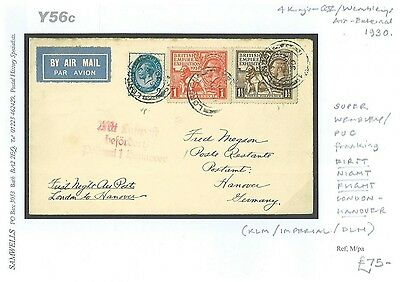DBY56c 1930 WEMBLEY PUC Franking FFC/Germany Hannover