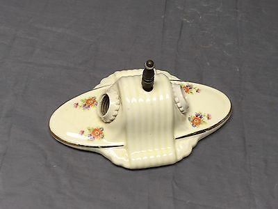 Vintage Ceramic Porcelain Ceiling Light Fixture Flush Mount Floral Chic 288-17E