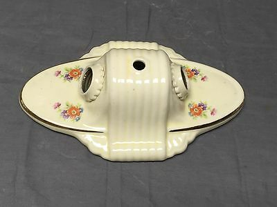 Vintage Ceramic Porcelain Ceiling Light Fixture Flush Mount Floral Chic 289-17E