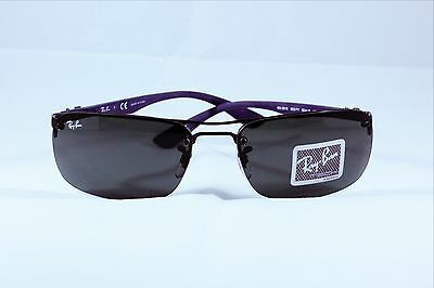 Authentic New Mens Ray-Ban Wrap Black Wire Sunglasses Rb 8310 002/71 63