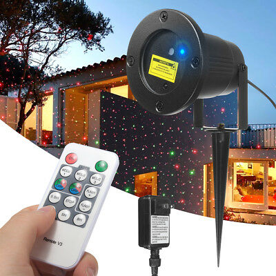 R&G Outdoor Projector Moving Laser Lamp Show Star Xmas Landscape Garden Light