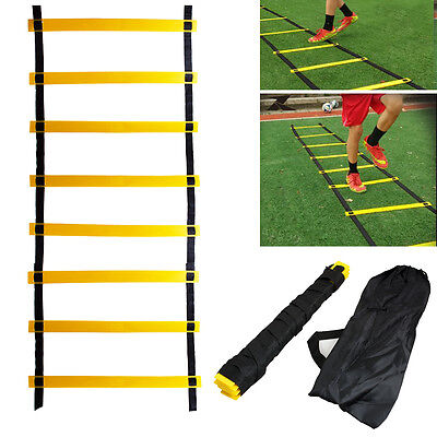 4m Agility Ladder for Sports Soccer Football Speed Feet Training 8 Rung 12 Feet