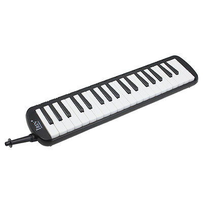IRIN Black 37 Piano Keys Melodica Pianica w/Carrying Bag For Students New X4B3