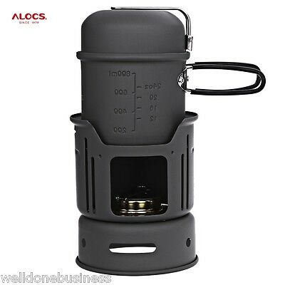ALOCS Portable  1 - 2 Person 7pcs Camping Cook Set for Outdoor Hiking Picnic