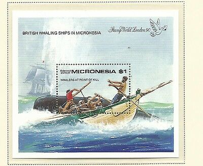1990 Whaling Ships Mini Sheet  Complete MUH/MNH as Issued