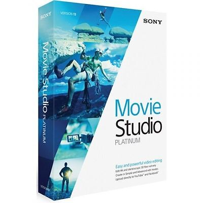 Sony Movie Studio Platinum 13 Video Editing Software DISC INCLUDED