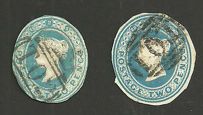 2D Blue Dated Cut Outs Cancelled By T01 Ad T02 Numerals