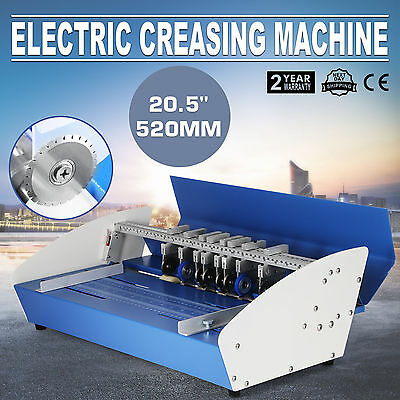 "20.5"" Electric Creaser Paper Creasing Machine Dotted Line Perforator Coupon"