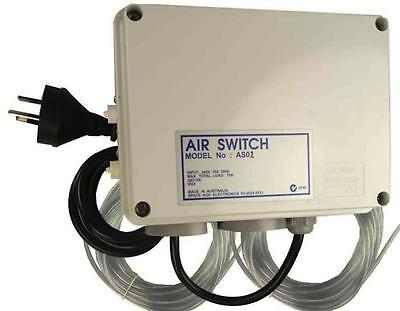 Air Switch Dual for Spas and Pools no Timer 10amp