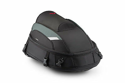 SW Motech JetPack Motorcycle Backpack Rear Tail Bag Touring Luggage - Black