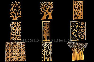 3D Model STL for CNC Router Engraver Carving Artcam Aspire Tree Forest 6081