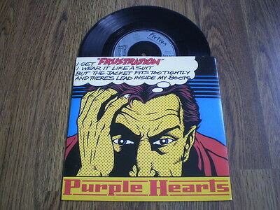 "Purple Hearts - Frustration 7"" A1 B1 1979 Fiction Barely Played Near Mint"