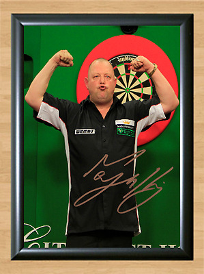 Mervyn King Signed Autographed A4 Poster Photo Print Darts Sports Memorabilia 2