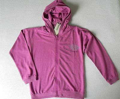 name it Kapuzenjacke Sweatjacke Gr.122-128  NEU Glitzer Mund