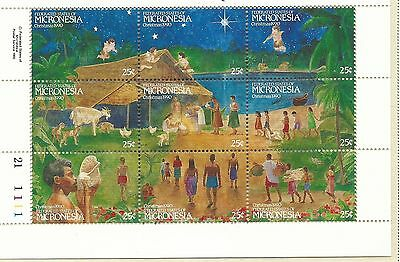 1990 Christmas Mini Sheet   Complete MUH/MNH as Issued