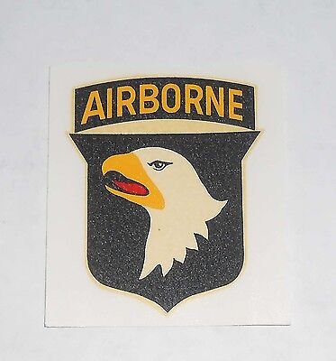 Original Full Size 60's Vintage Decal For 101st Airborne Division by Ken Nolan